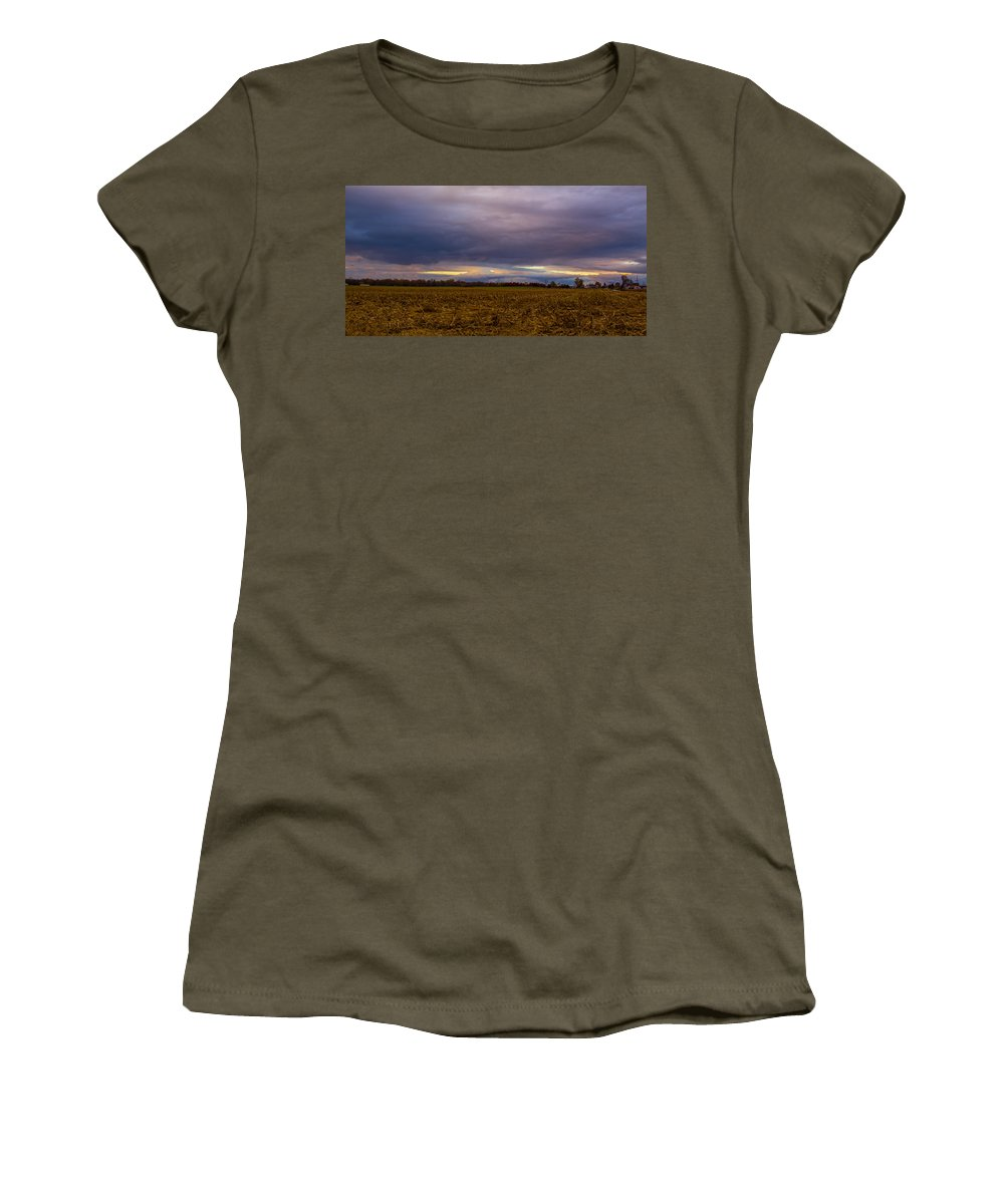 Storm Photo Women's T-Shirt (Athletic Fit) featuring the photograph Storm Coming by Michael J Samuels