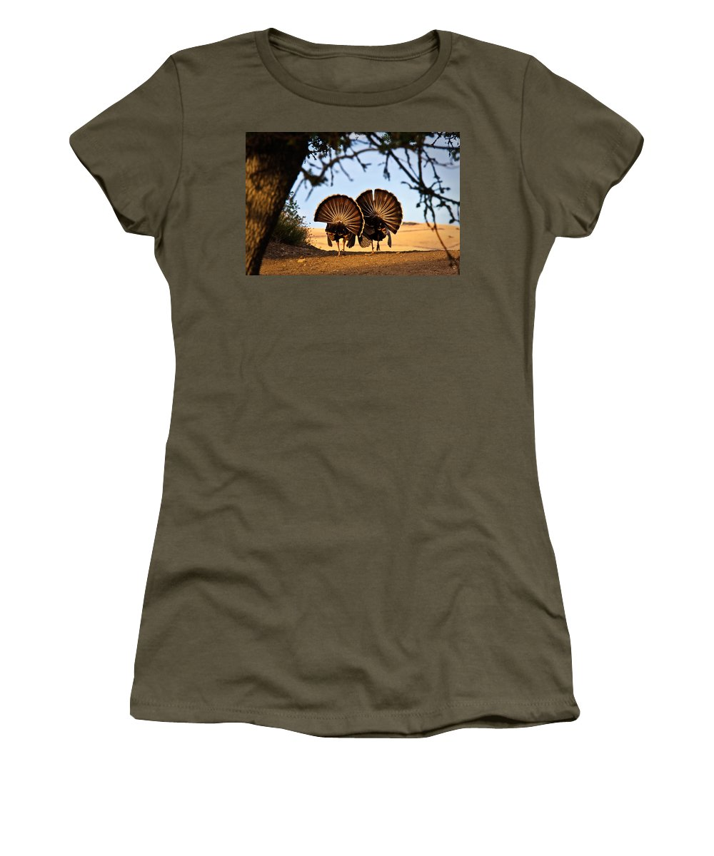 Male Women's T-Shirt featuring the photograph Strutten Their Stuff by Beth Sargent