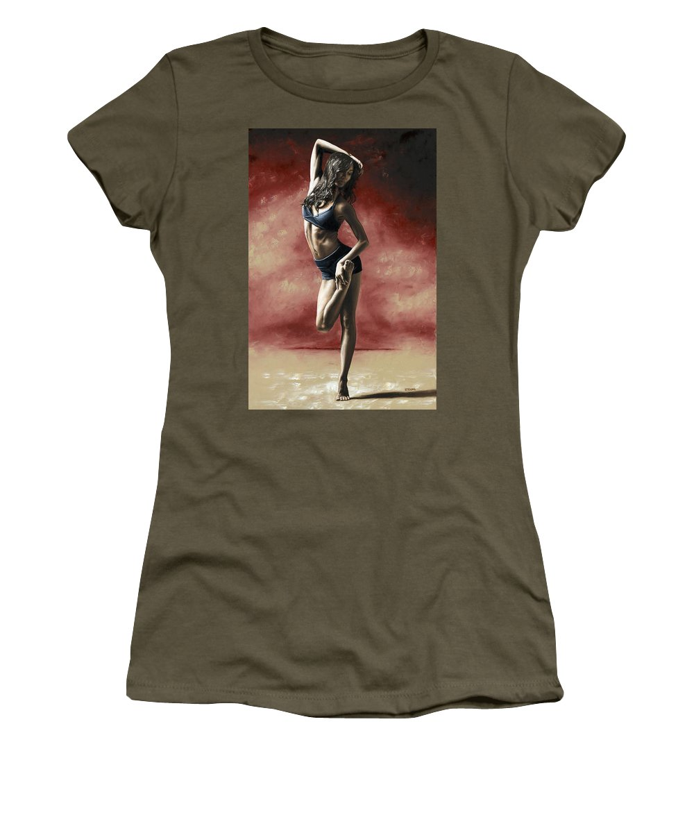 Dance Women's T-Shirt featuring the painting Sultry Dancer by Richard Young