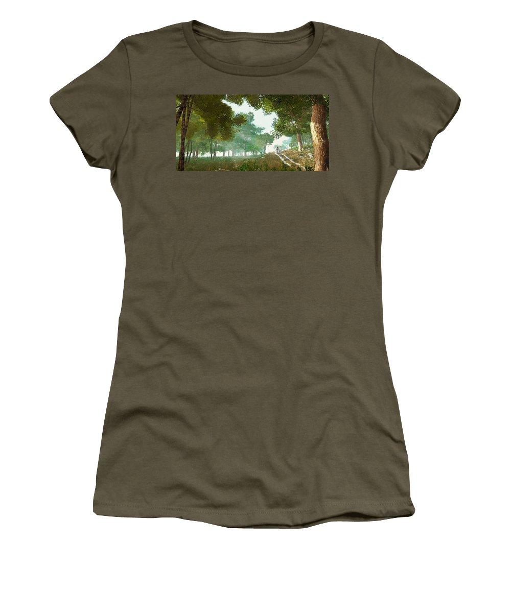 Summer Women's T-Shirt featuring the digital art Summer Stroll by Dale Jackson
