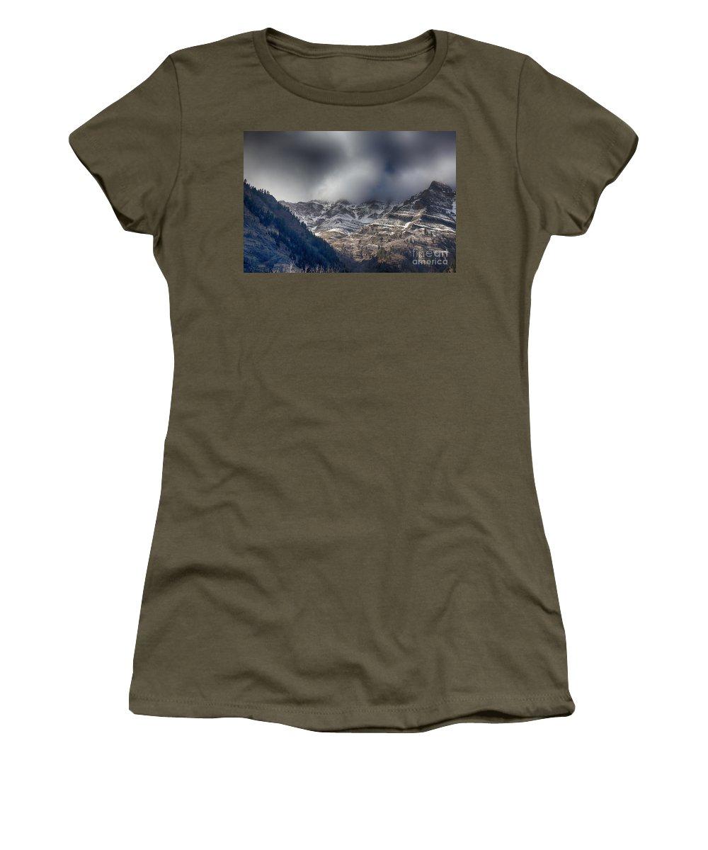 Sundance Aspen Women's T-Shirt featuring the photograph Sundance Aspen-utah V3 by Douglas Barnard