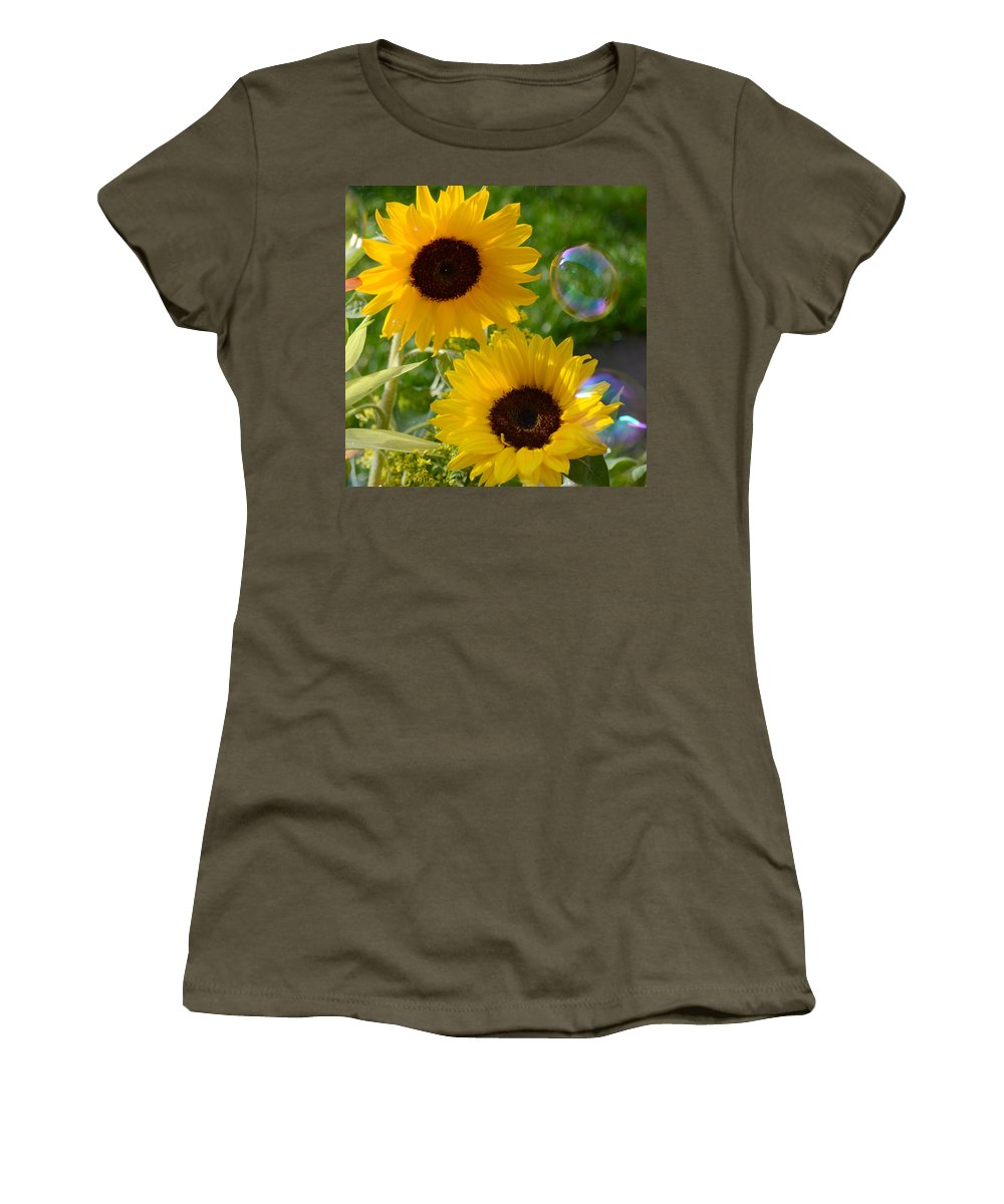 Sunflower Women's T-Shirt featuring the photograph Sunflowers by Russell Sherwood