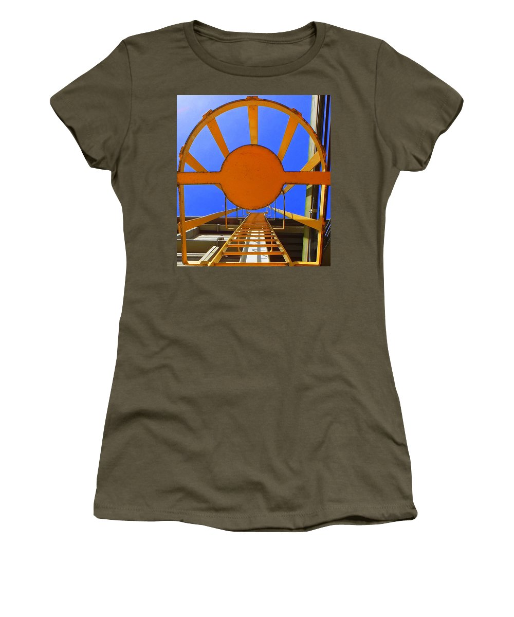 Hopper Women's T-Shirt featuring the photograph Sunny Perspective by Guy Pettingell