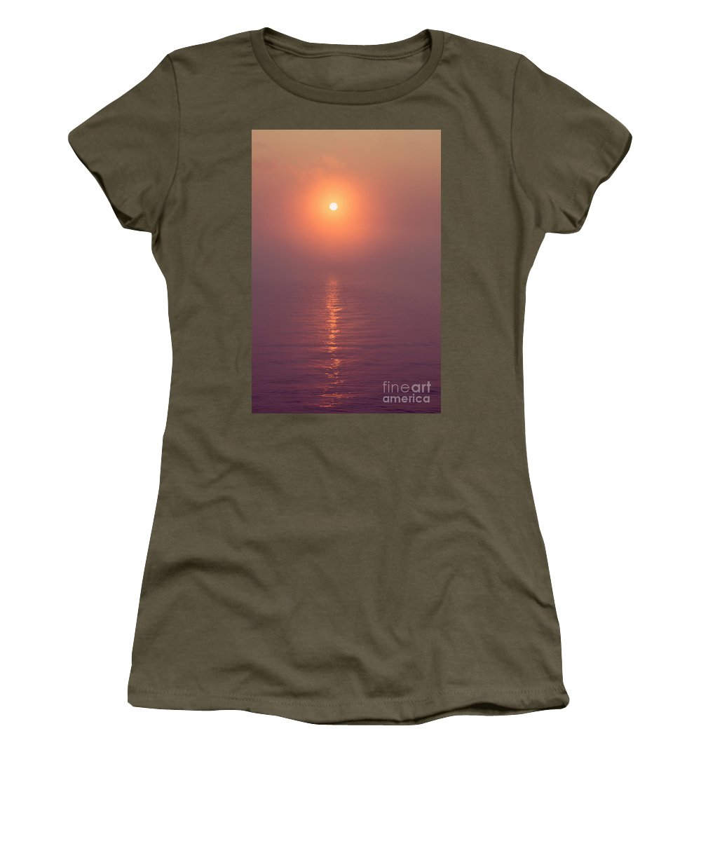 West Thumb Geyser Basin Women's T-Shirt featuring the photograph Sunrise Over Yellowstone Lake by Bryan Mullennix