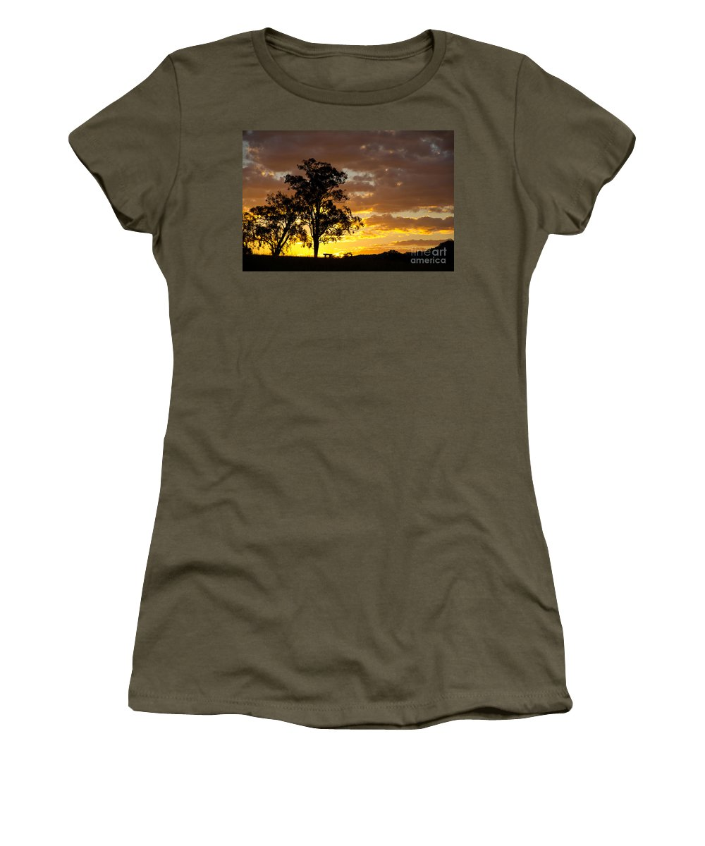 Sunset Women's T-Shirt featuring the photograph Sunset by Carole Lloyd