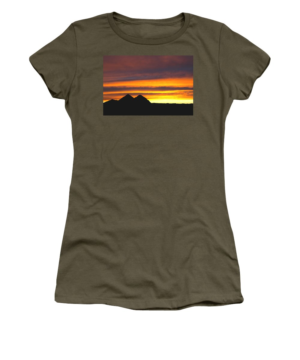 Sunset Women's T-Shirt featuring the photograph Sunset Death Valley Rectangular Img 0283 by Greg Kluempers