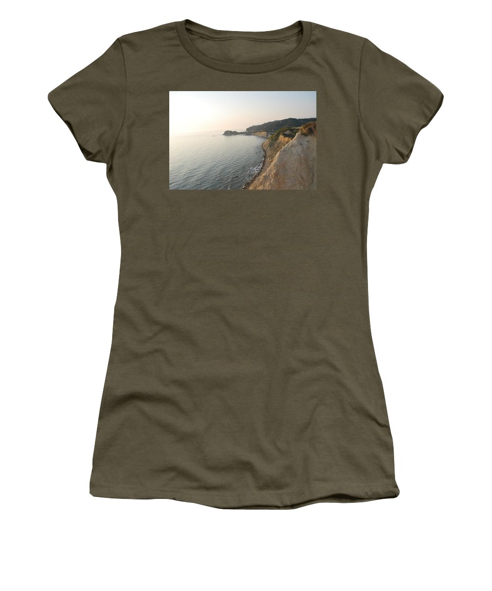 Sunset Women's T-Shirt featuring the photograph Sunset Gourna by George Katechis