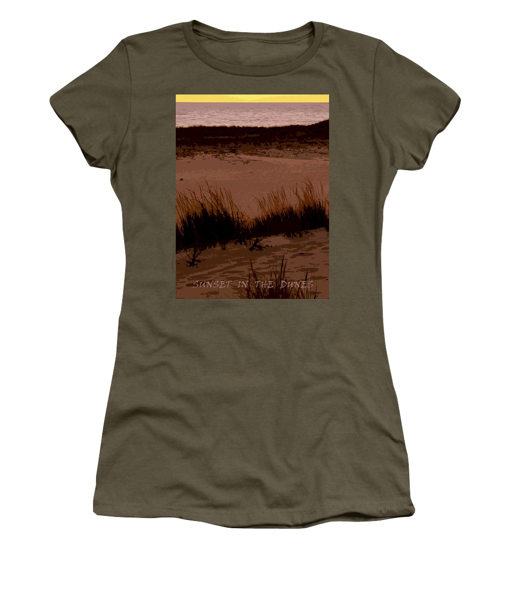 Travel Women's T-Shirt featuring the photograph Sunset In The Dunes by Michelle Calkins
