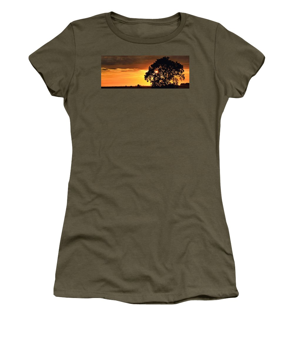 Sunset Women's T-Shirt featuring the photograph Sunset In The Valley by Shawn McMillan