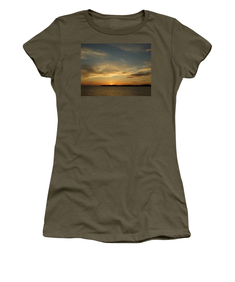 Women's T-Shirt (Athletic Fit) featuring the photograph Sunset Island by Katerina Naumenko