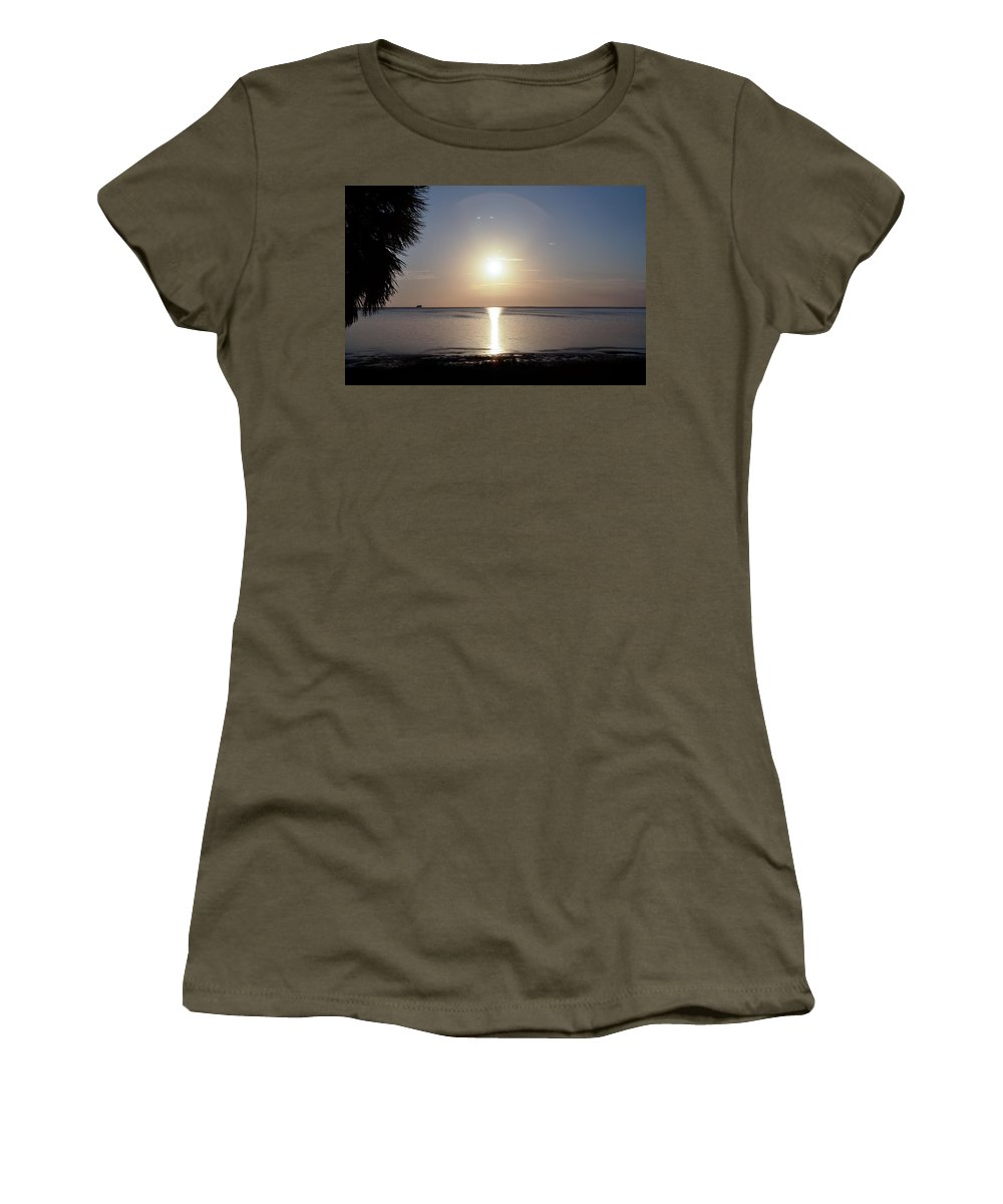 Sunset Women's T-Shirt featuring the photograph Sunset On The Gulf Of Mexico by Bill Cannon