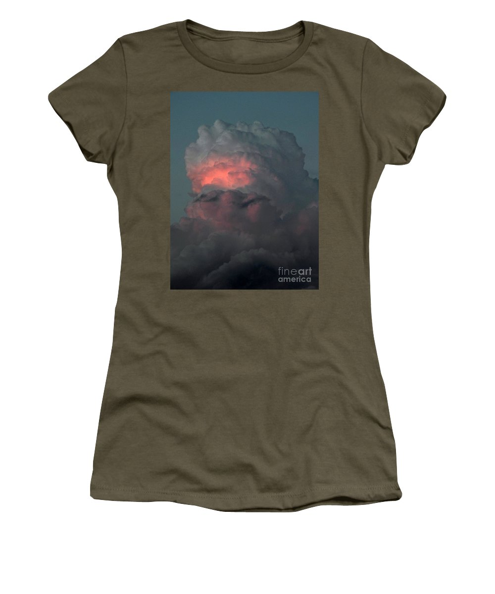 Sunset Women's T-Shirt (Athletic Fit) featuring the photograph Sunset's Reflection by Brian Commerford