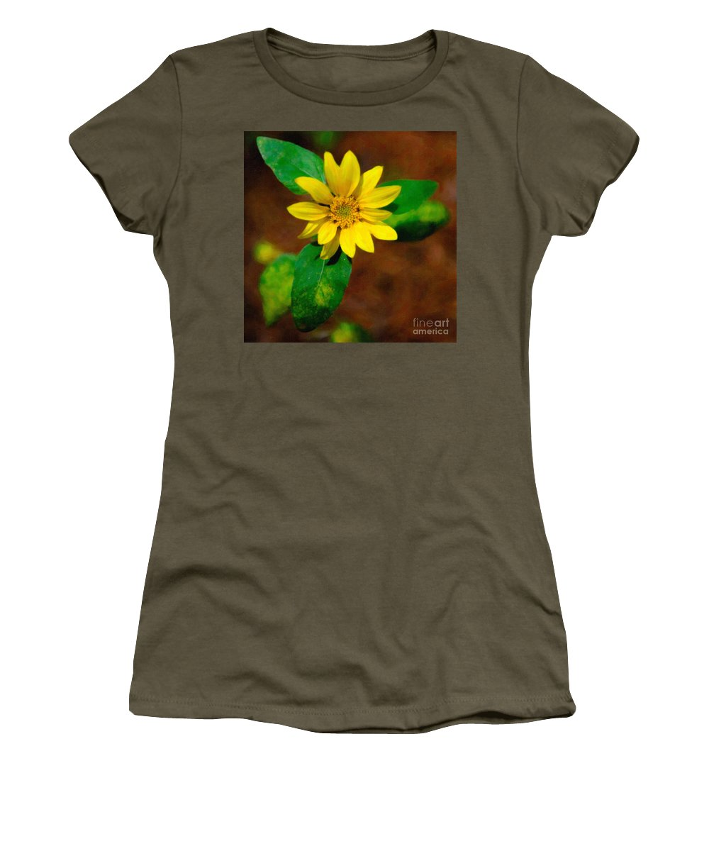 Flower Women's T-Shirt featuring the photograph Sunshine Yellow by Dale Powell