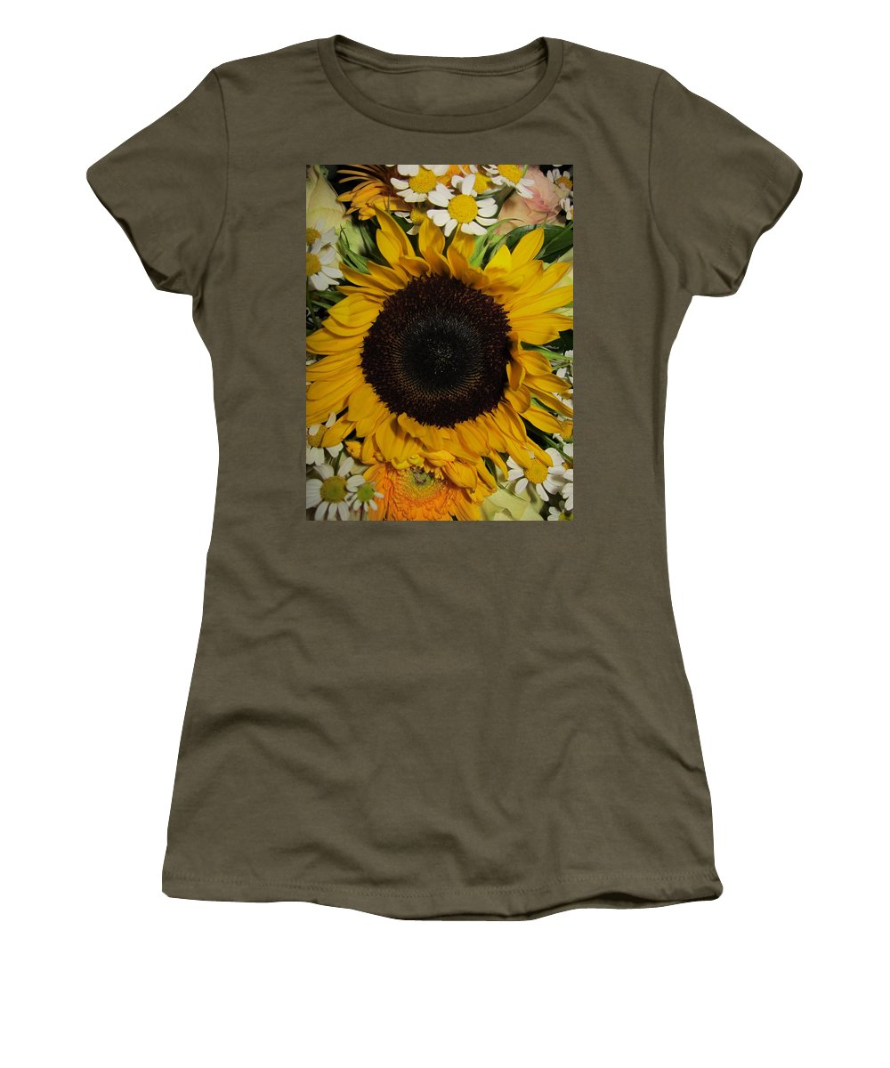 Daisy Women's T-Shirt featuring the photograph Surrounded by Rosita Larsson