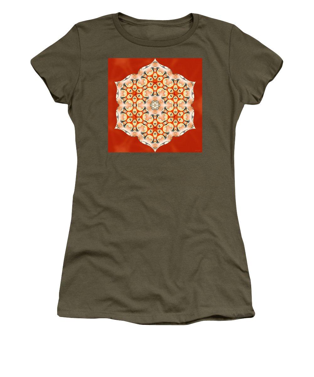 Sacredlife Mandalas Women's T-Shirt featuring the digital art Svadhisthana Glory by Derek Gedney