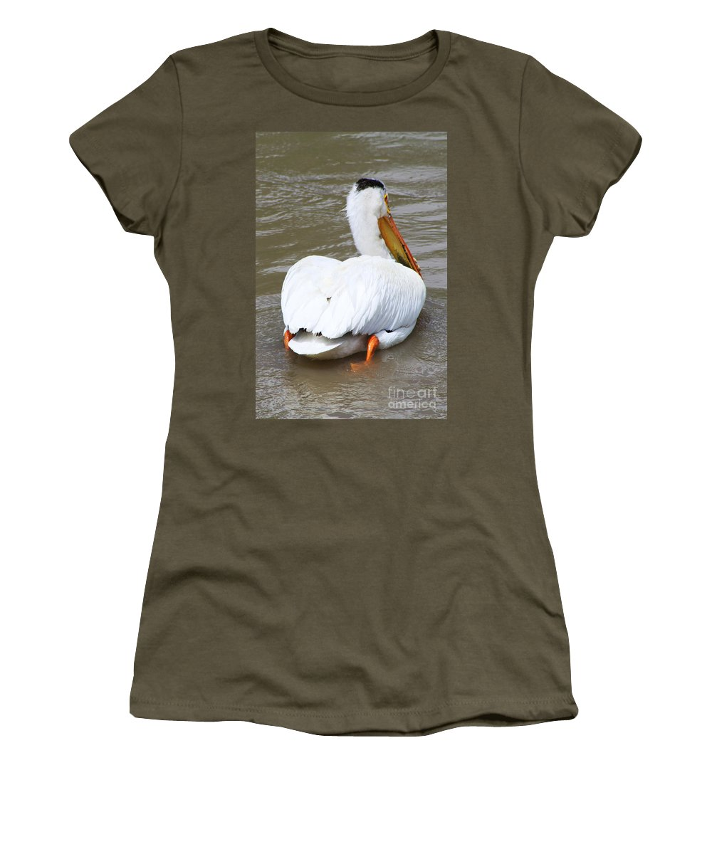 Bird Women's T-Shirt featuring the photograph Swimming Away by Alyce Taylor