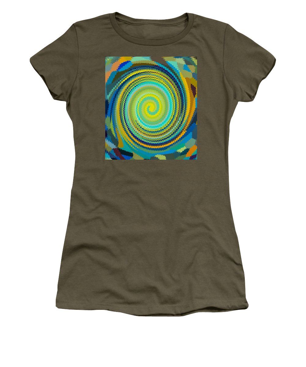 Swirl Women's T-Shirt featuring the painting Swirl 84 by Jeelan Clark