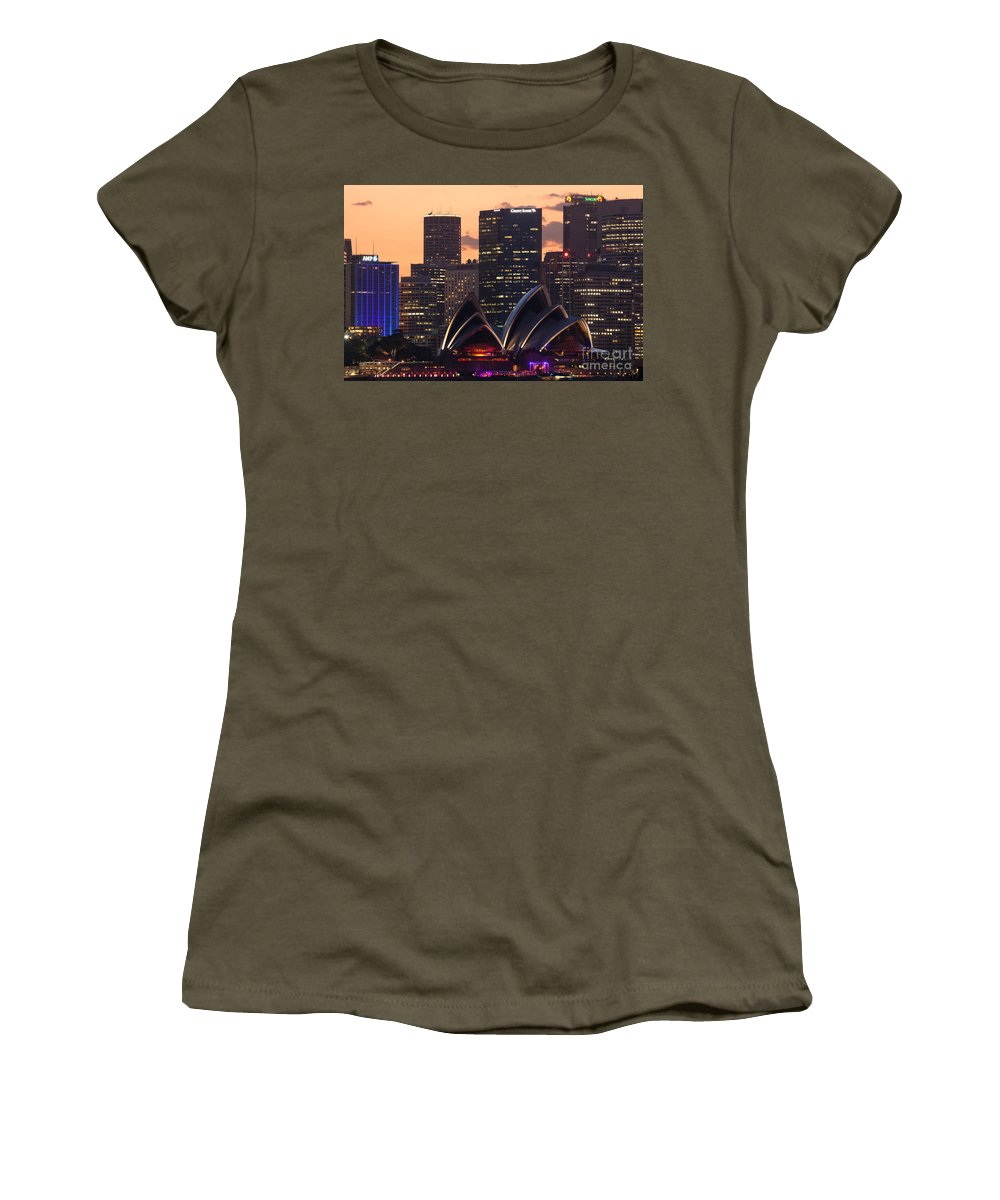 Sydney Women's T-Shirt featuring the photograph Sydney At Sunset by Matteo Colombo