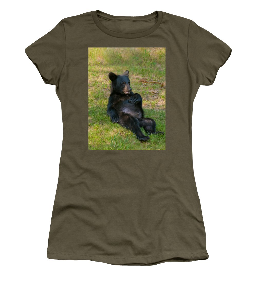Bears Women's T-Shirt featuring the photograph Taking A Break by Brenda Jacobs