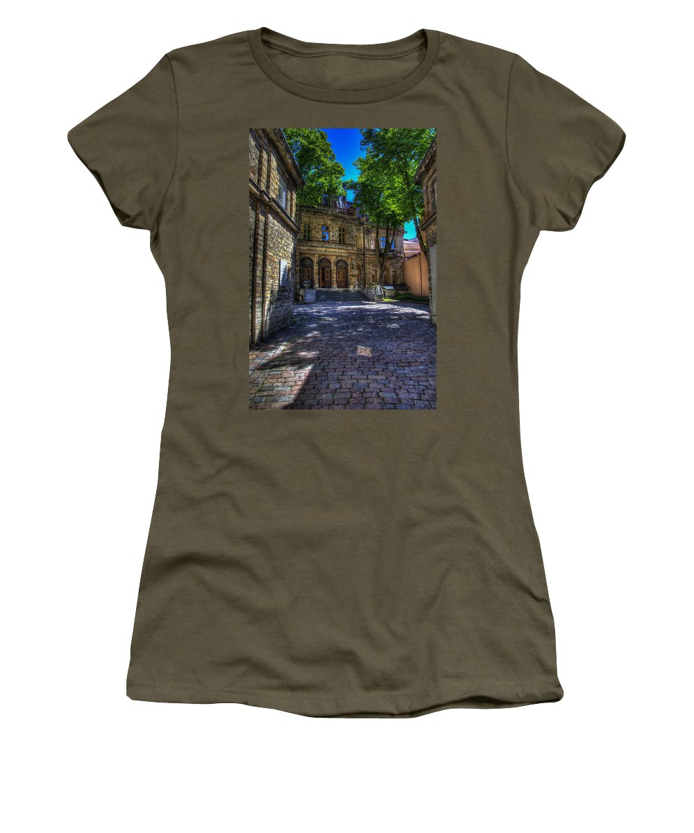 Estonia Women's T-Shirt featuring the photograph Tallin - Estonia by Jon Berghoff