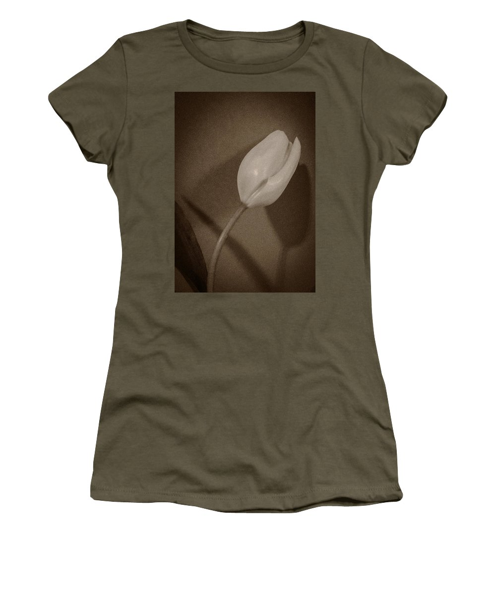 Tulip Women's T-Shirt featuring the photograph That There Tulip by David Stone