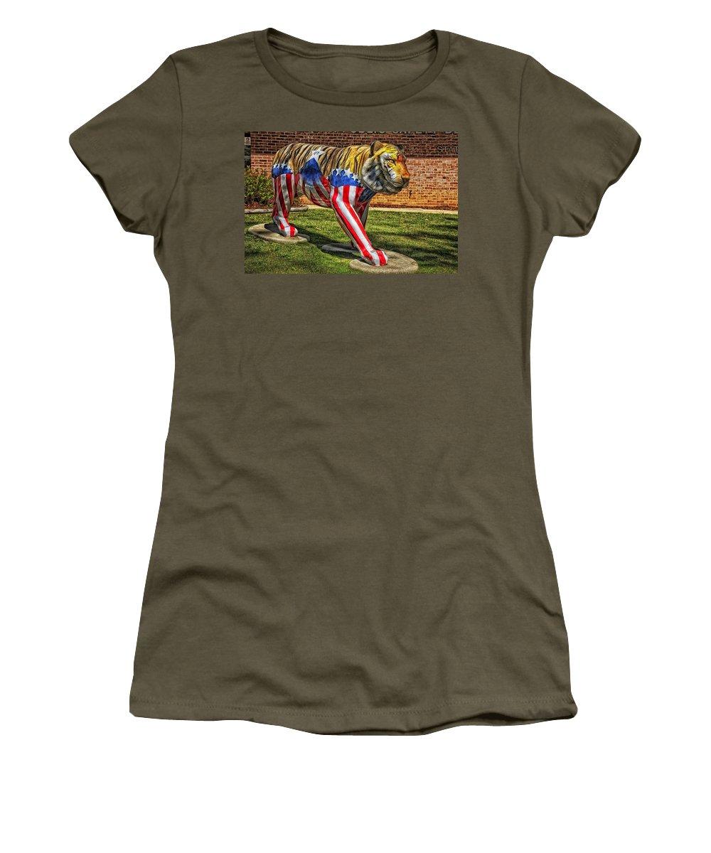 Auburn University Women's T-Shirt featuring the photograph The Auburn Tiger by Mountain Dreams