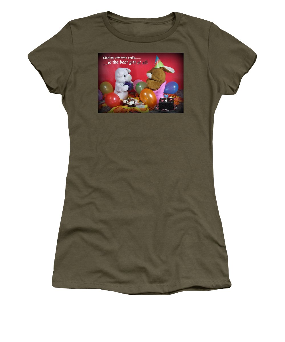 Birthday Women's T-Shirt featuring the photograph The Best Gift Of All by Piggy