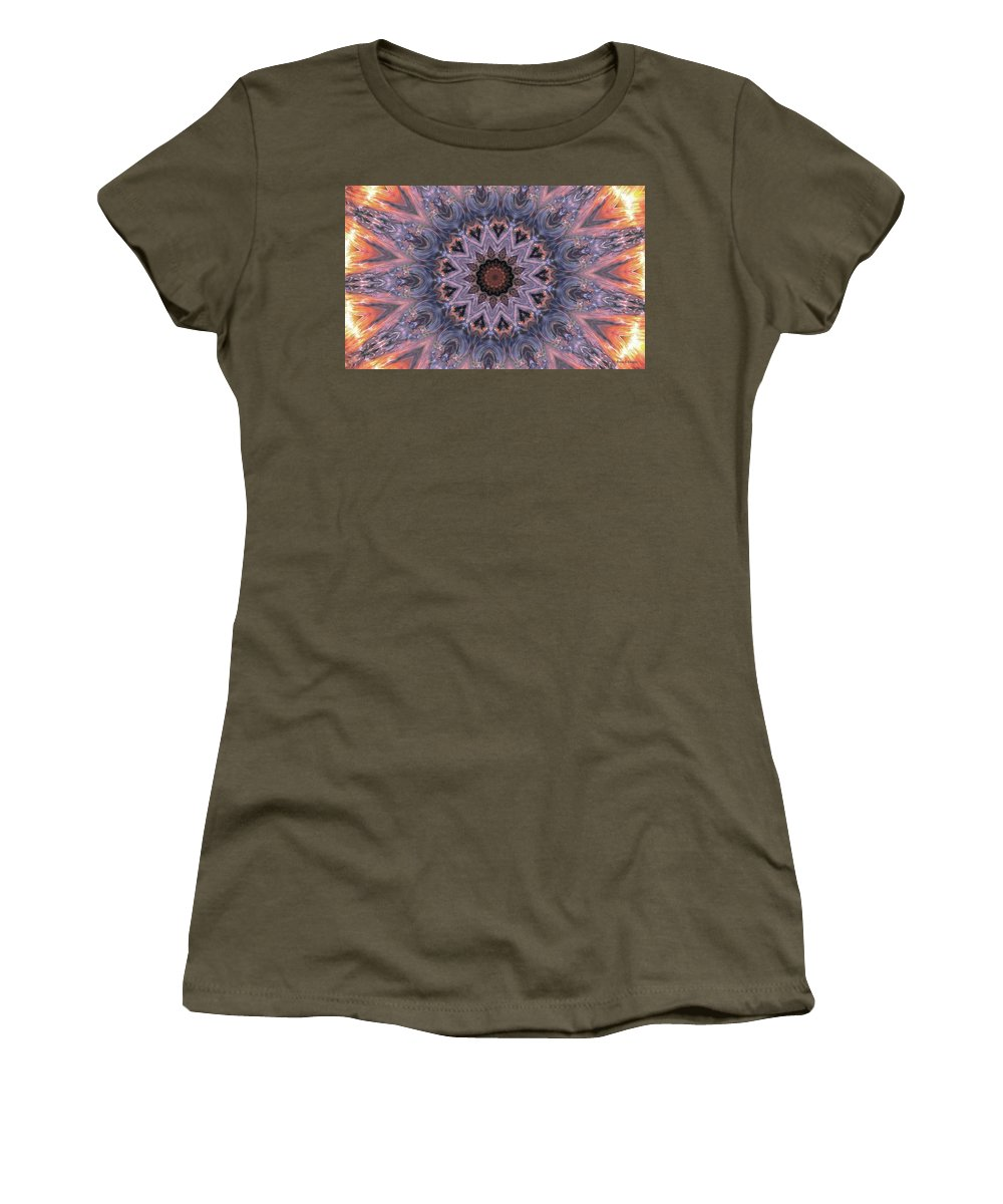 Sunburst Women's T-Shirt (Athletic Fit) featuring the digital art The Birth Of The Sun by Angela Stanton