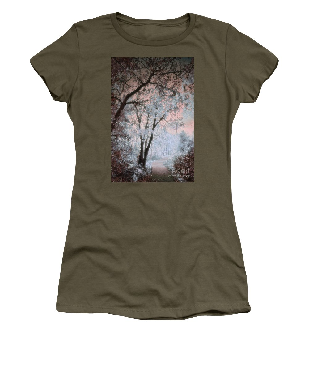 Tree Women's T-Shirt (Athletic Fit) featuring the photograph The Blue Trees by Tara Turner