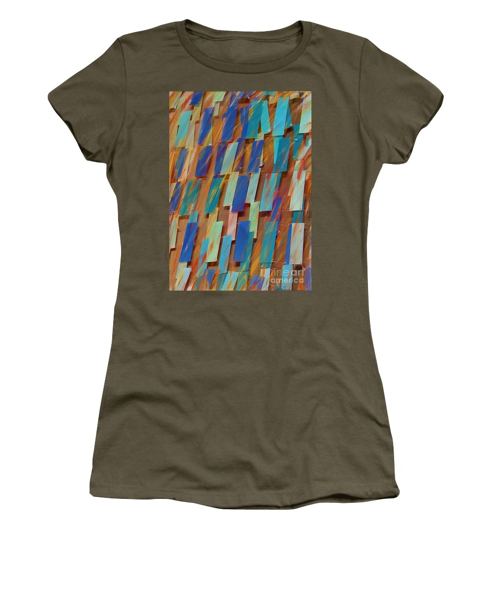 Blue Women's T-Shirt (Athletic Fit) featuring the photograph The Blues by Judi Bagwell