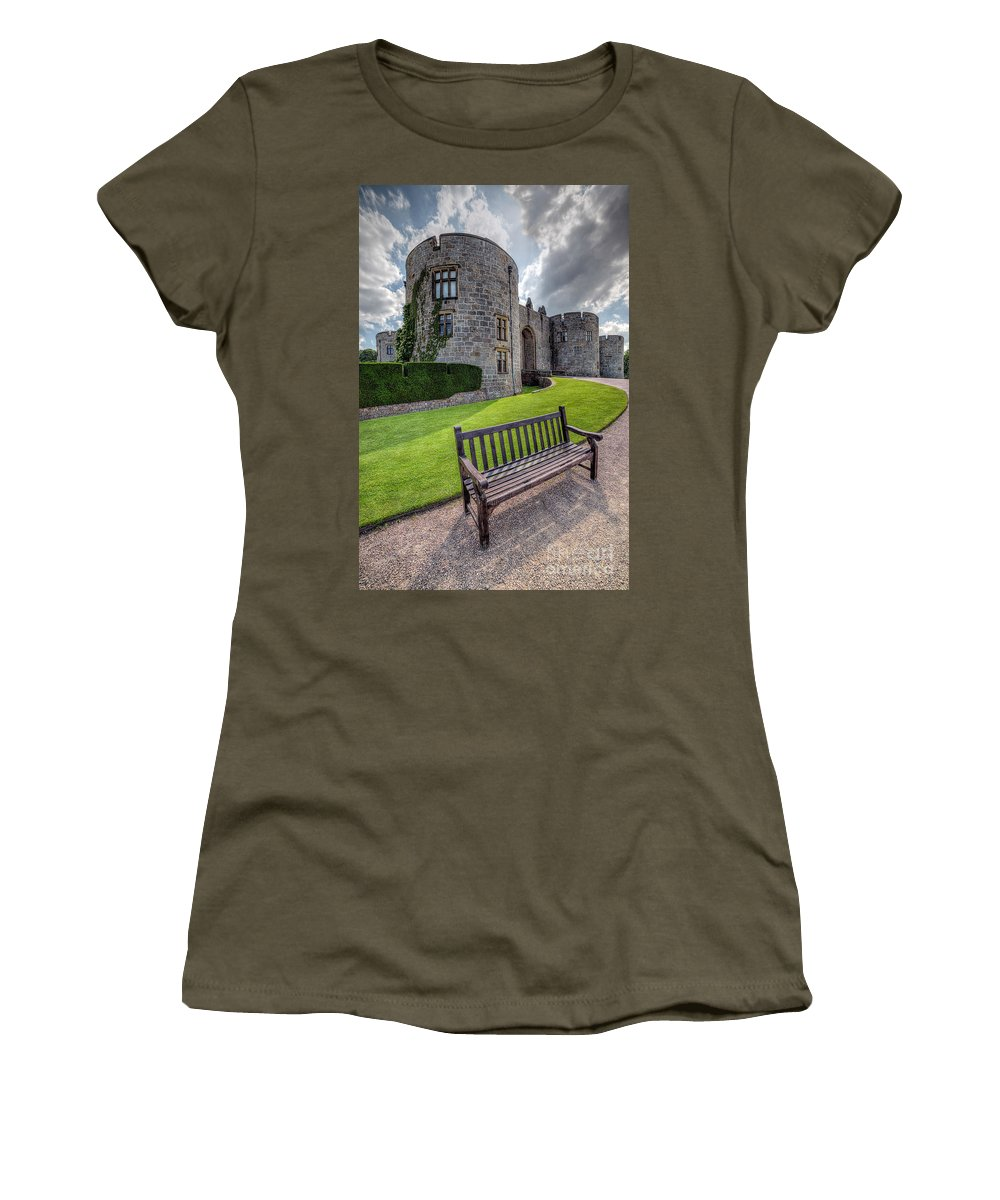 Hdr Women's T-Shirt featuring the photograph The Castle Bench by Adrian Evans