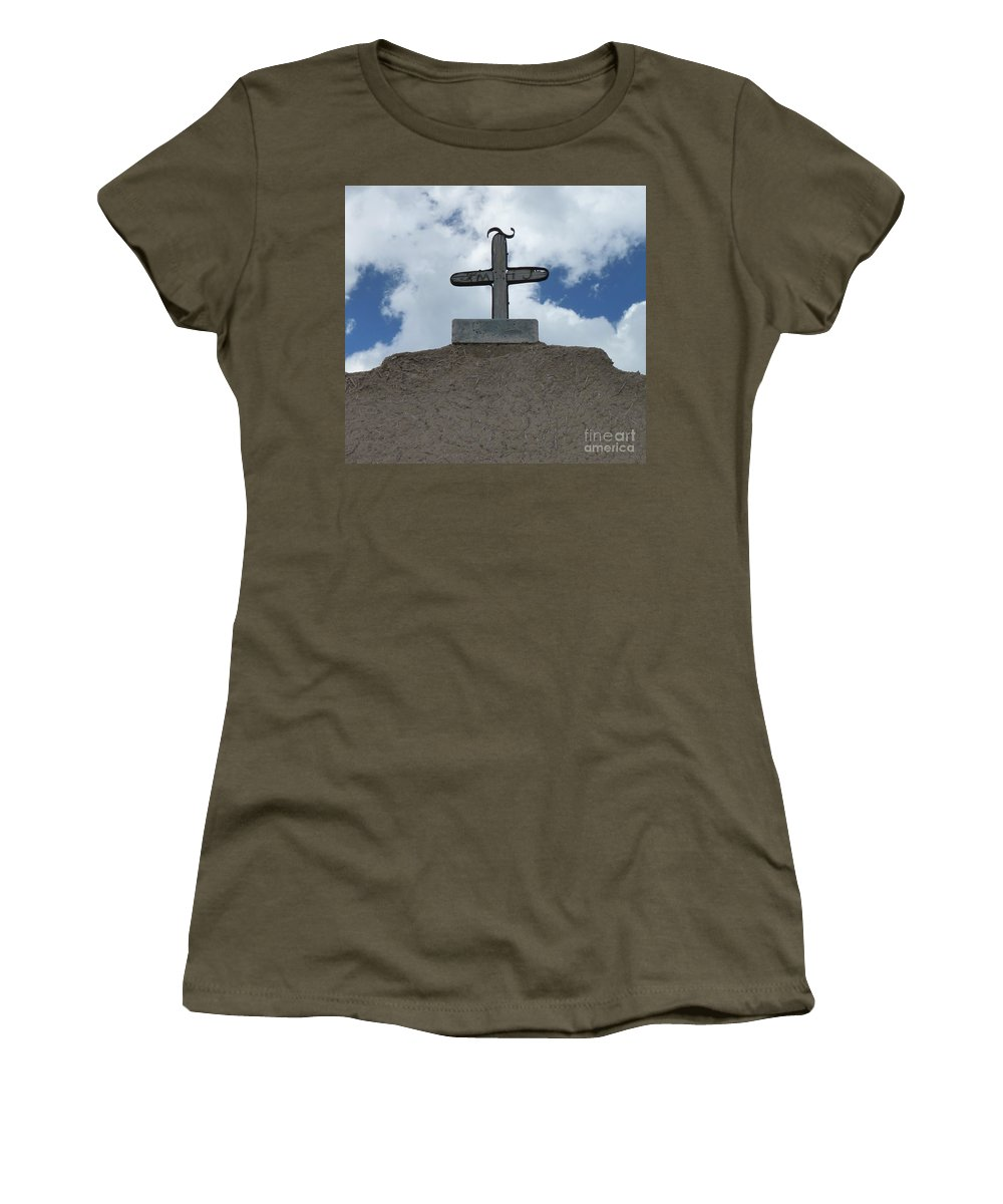 Religious Women's T-Shirt (Athletic Fit) featuring the photograph The Cross by MAK Photography