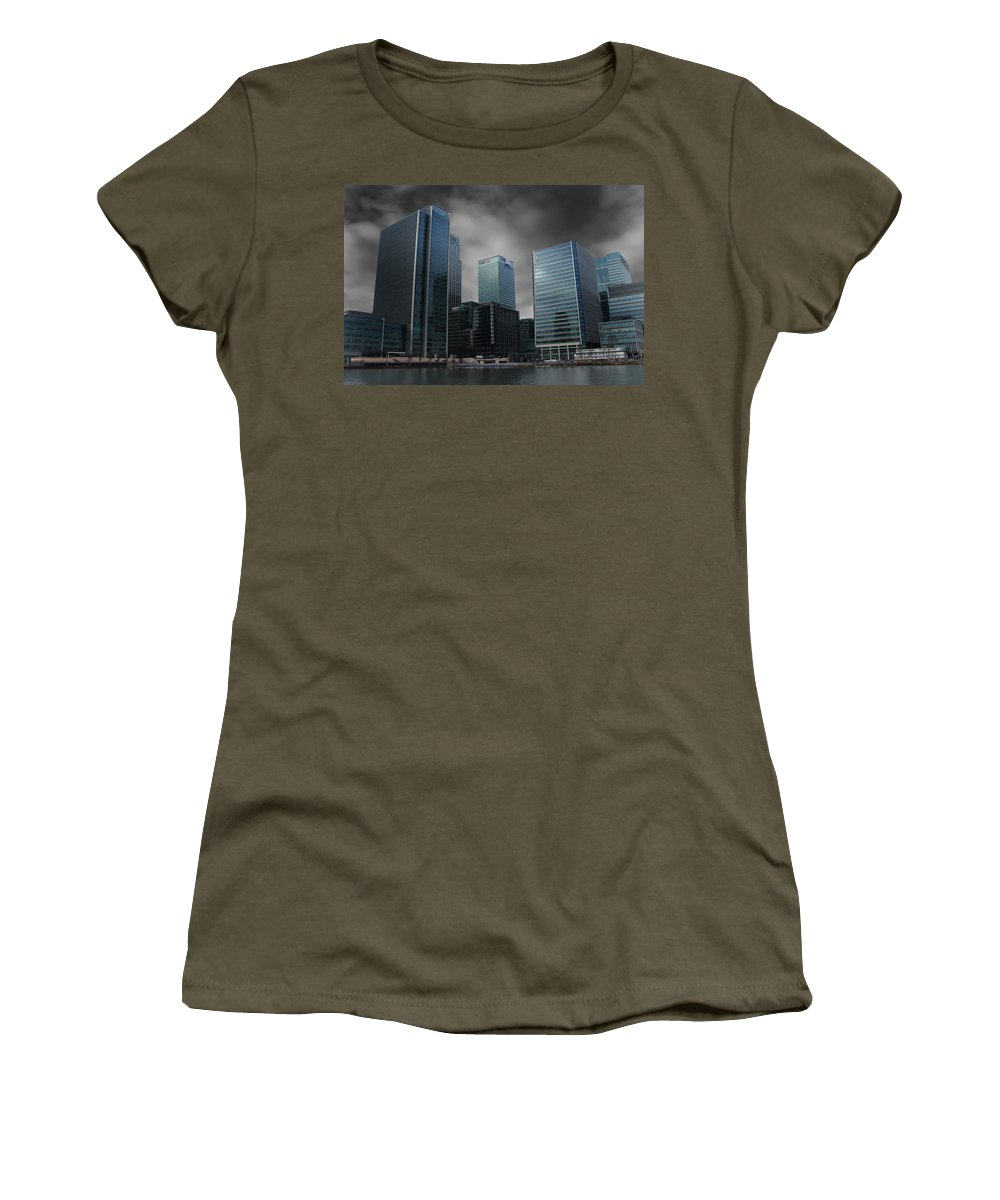 Docklands Women's T-Shirt featuring the photograph The Docklands by Martin Newman