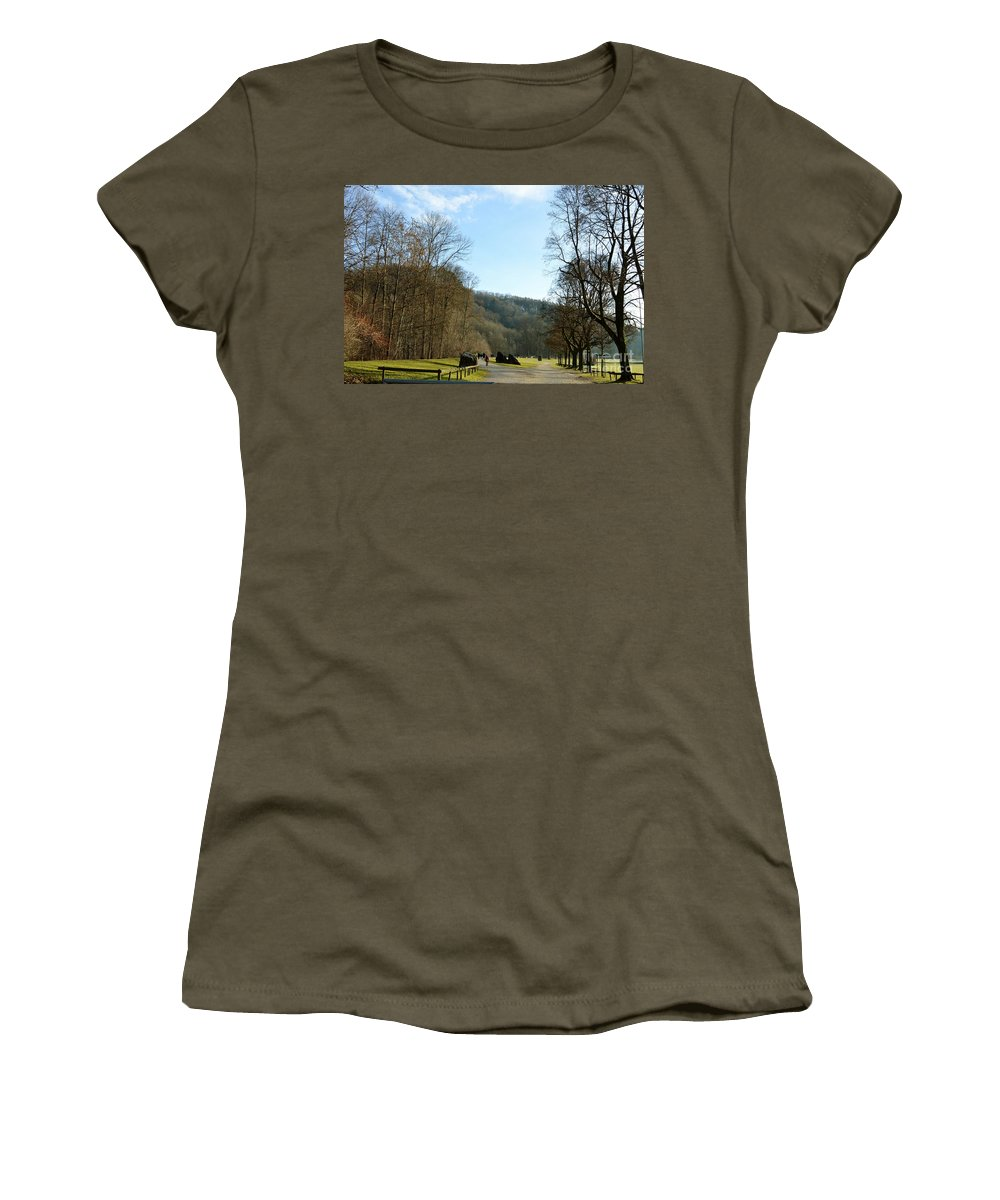 Landscape Women's T-Shirt featuring the photograph The Emme's Promenade Path by Felicia Tica