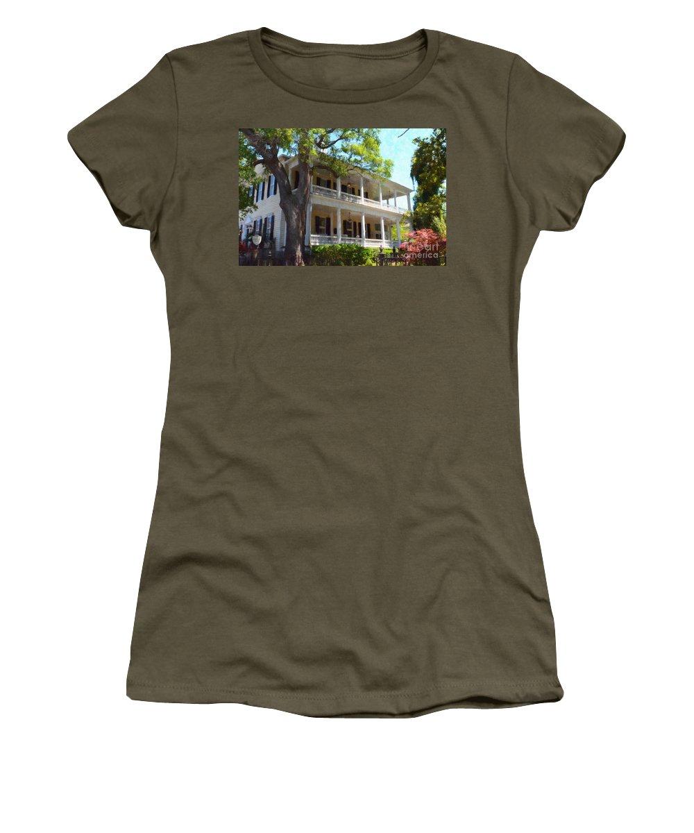 The Governors House Inn Women's T-Shirt featuring the photograph The Governors House Inn by Dale Powell