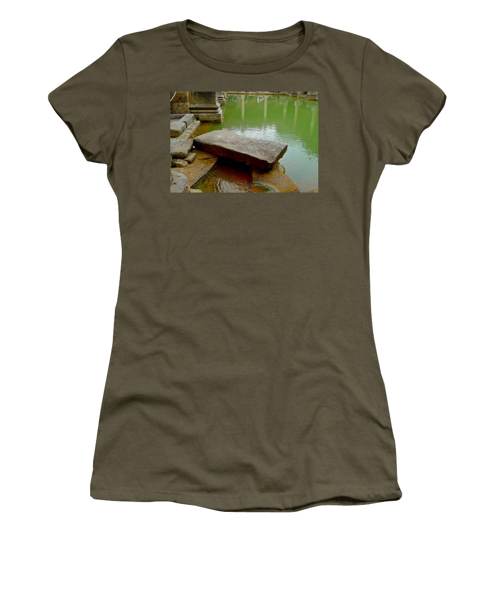 Bath Women's T-Shirt featuring the photograph The Great Bath At Bath by Denise Mazzocco
