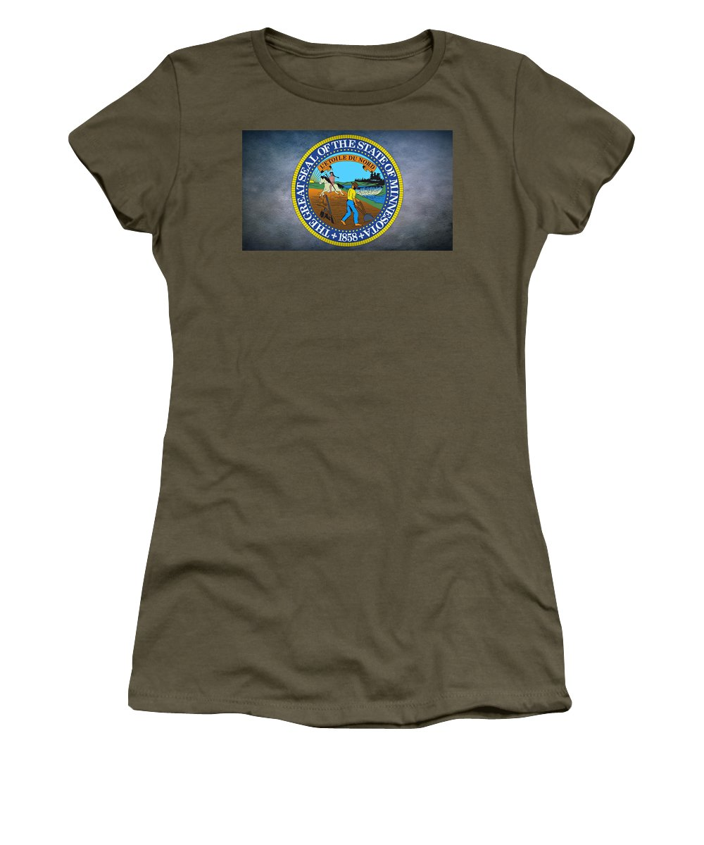 Minnesota Women's T-Shirt featuring the digital art The Great Seal Of The State Of Minnesota by Movie Poster Prints