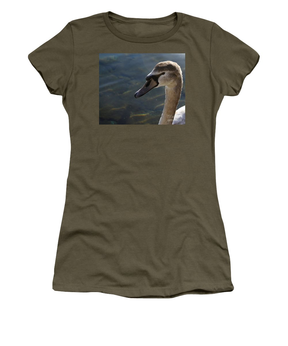 Goose Women's T-Shirt featuring the photograph The Haughty Goose by Donato Iannuzzi