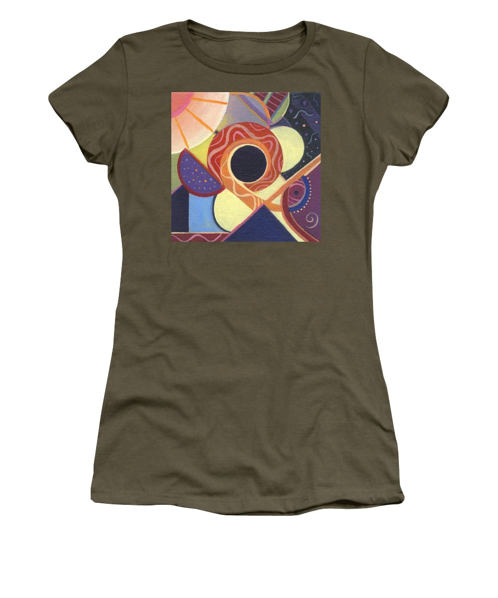 Abstract Women's T-Shirt featuring the painting The Joy Of Design X X Part 2 by Helena Tiainen