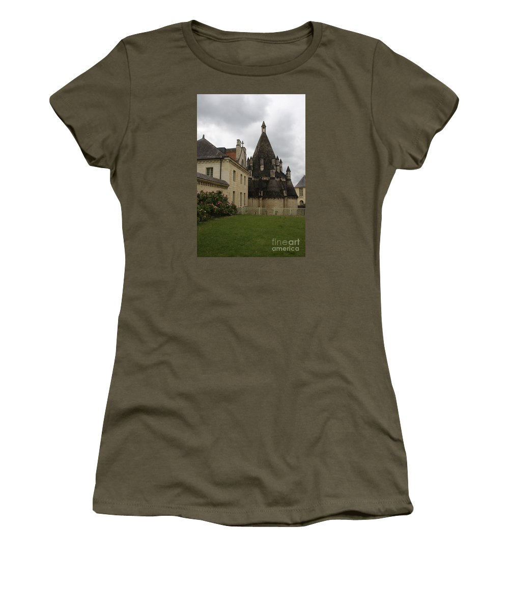 Kitchen Women's T-Shirt featuring the photograph The Kitchenbuilding - Abbey Fontevraud by Christiane Schulze Art And Photography