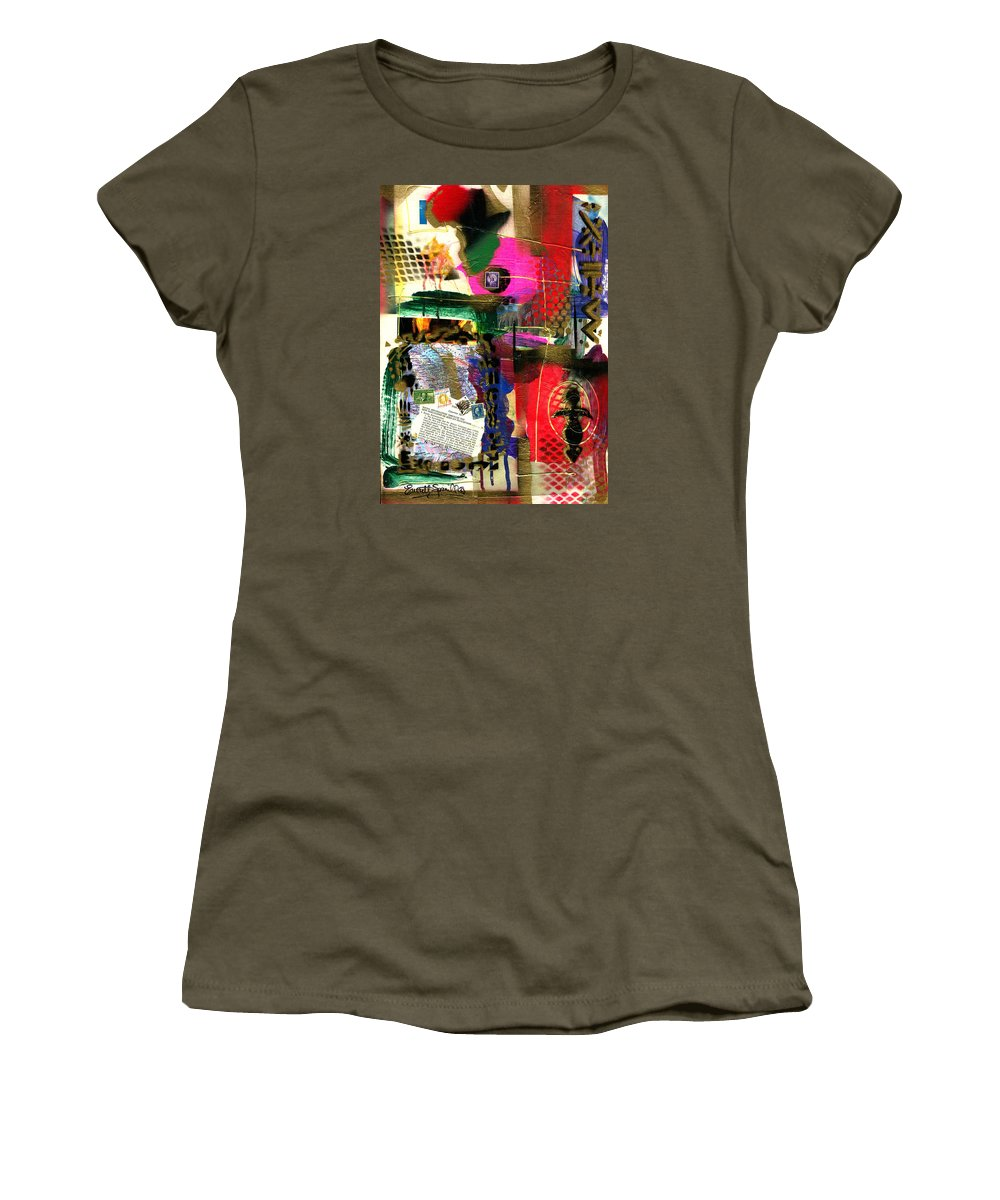 Everett Spruill Women's T-Shirt (Athletic Fit) featuring the painting The Philosophy Of Social Reformation by Everett Spruill