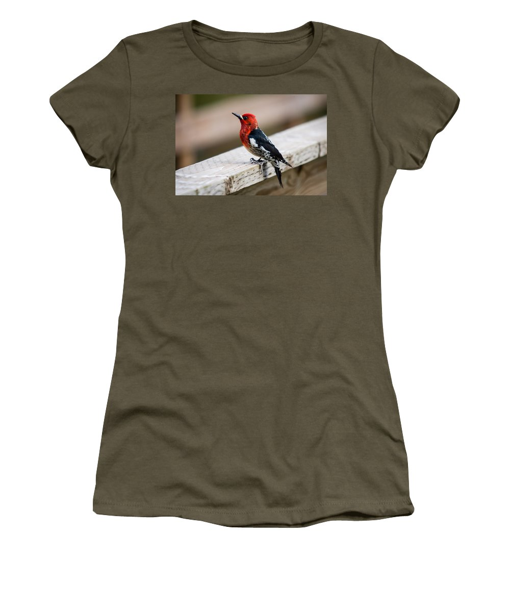 2008 Women's T-Shirt featuring the photograph The Red Head by Melinda Ledsome