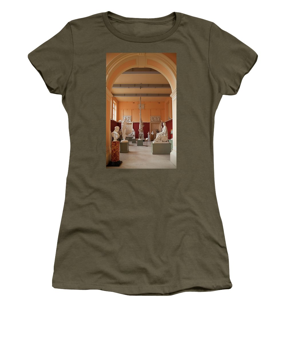 Photography Women's T-Shirt featuring the photograph The Sculpture Gallery,interior by Panoramic Images