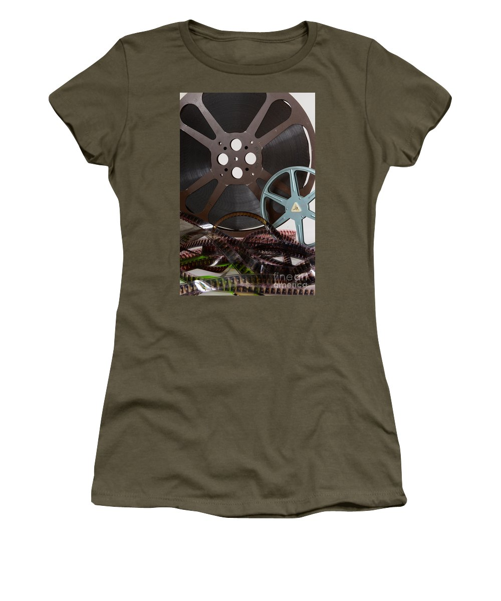 Paul Ward Women's T-Shirt (Athletic Fit) featuring the photograph The Silver Screen by Paul Ward