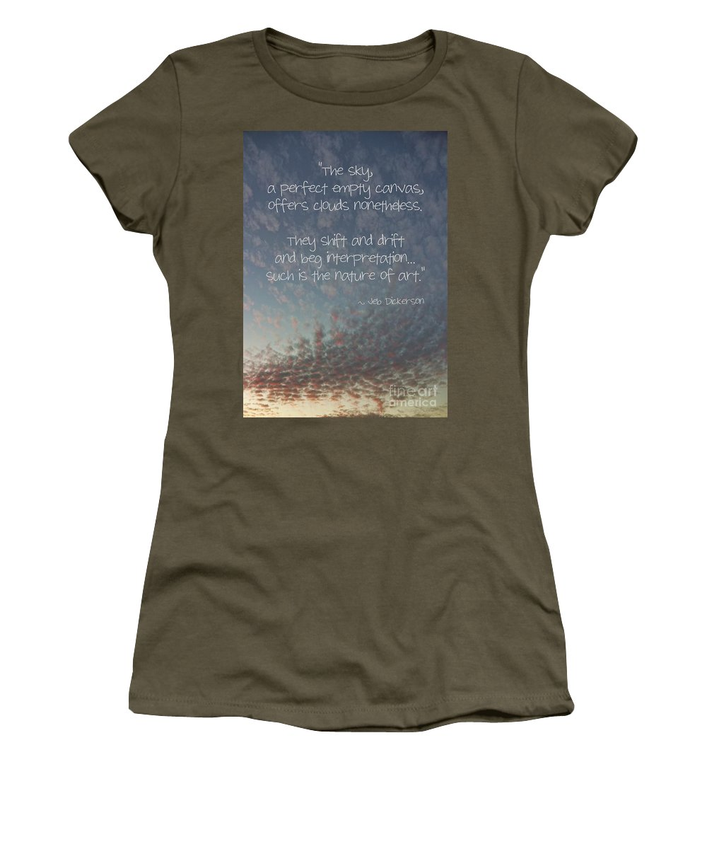 Relaxing Women's T-Shirt featuring the photograph The Sky by Peggy Hughes