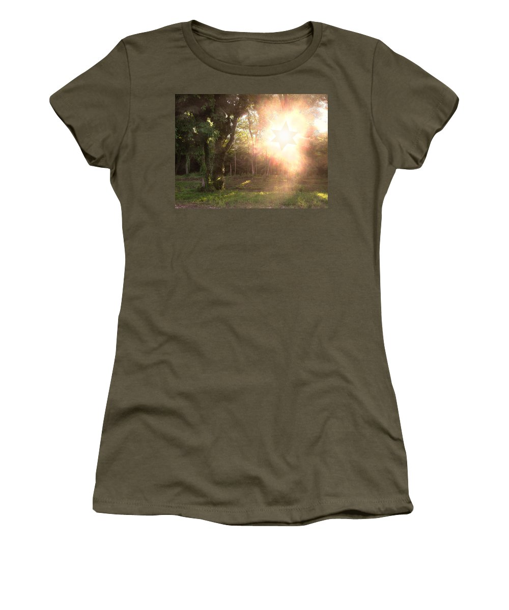 Star Of David Women's T-Shirt featuring the photograph The Star Of David Appeared by Anne Cameron Cutri