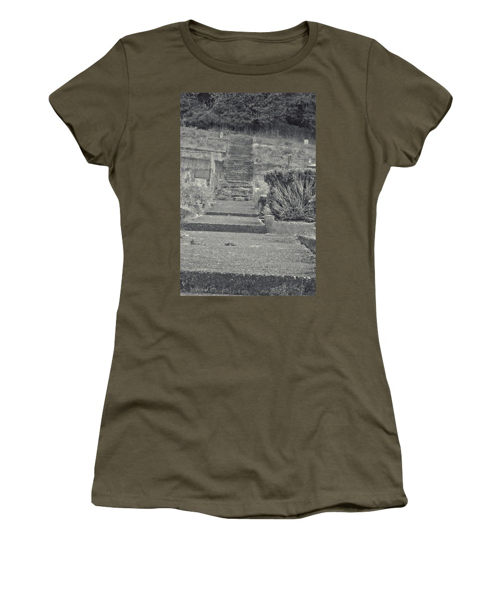 Women's T-Shirt featuring the photograph The Upstairs At The Cemetery by Cathy Anderson