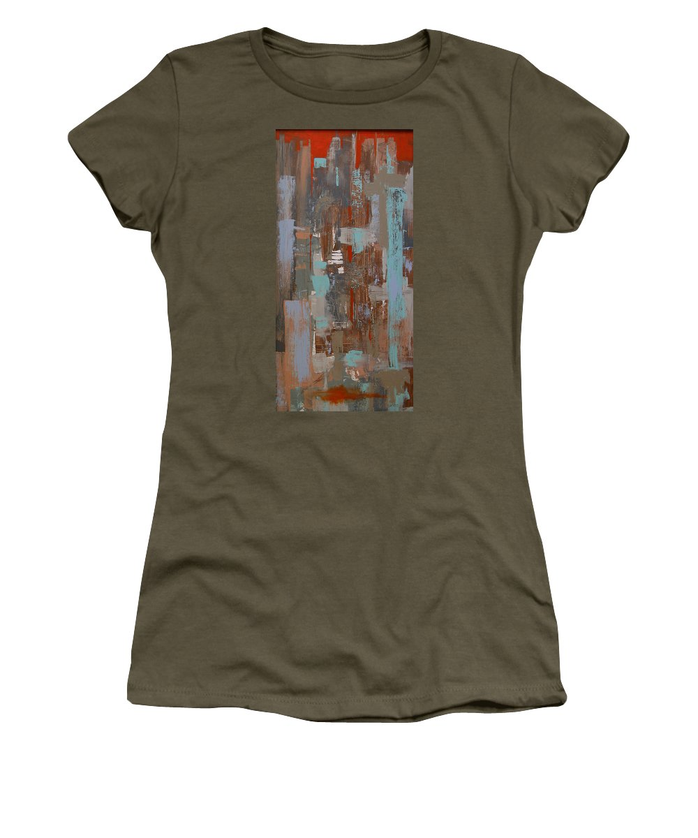 City Women's T-Shirt featuring the painting The White Tower by Rhodes Rumsey