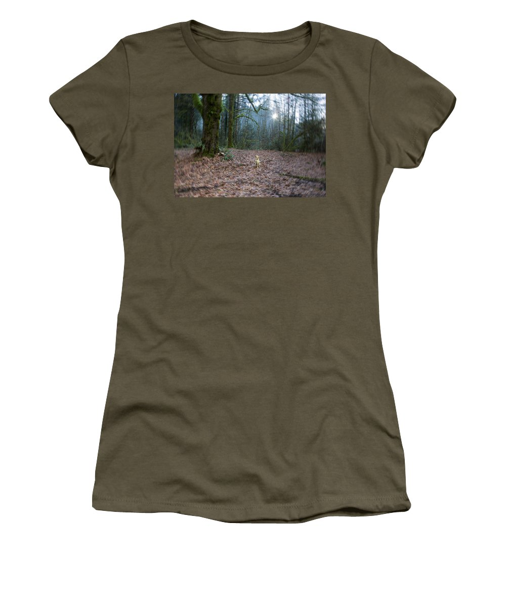 Nature Women's T-Shirt featuring the photograph The World She Lives In by Belinda Greb