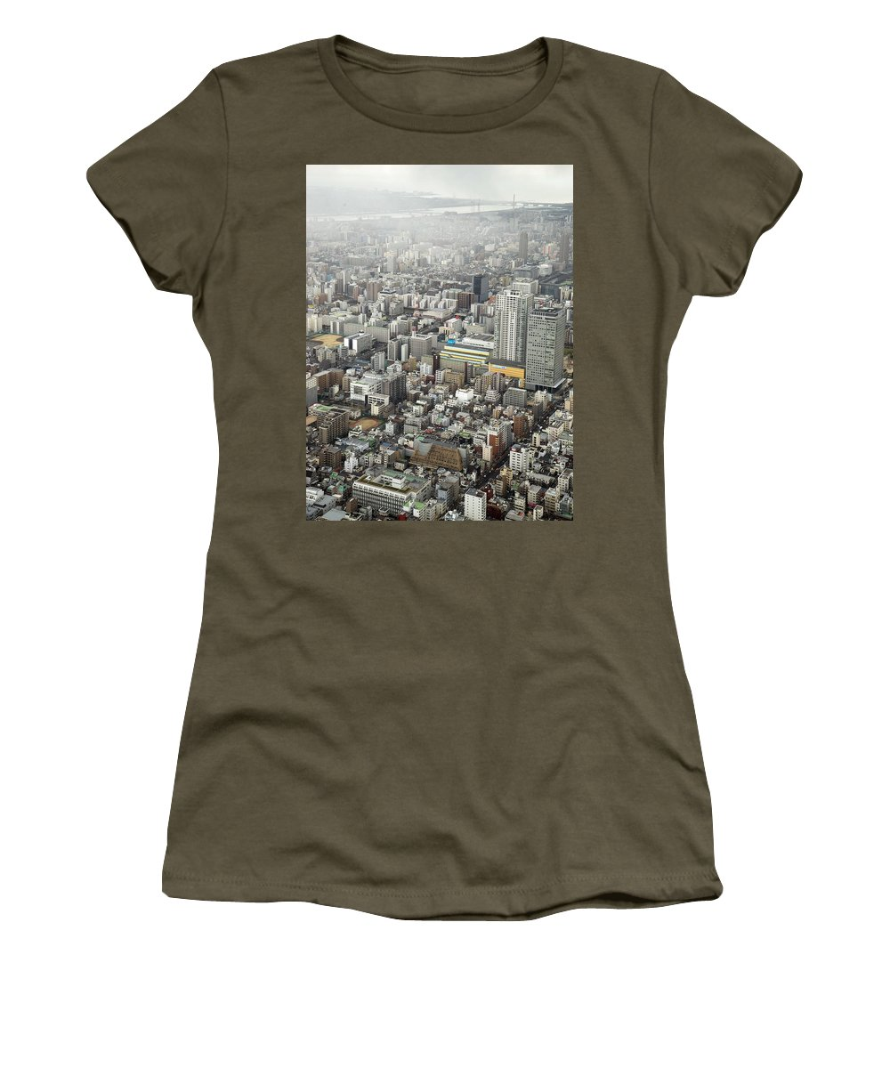 Skytree Women's T-Shirt featuring the photograph This Is Tokyo by For Ninety One Days